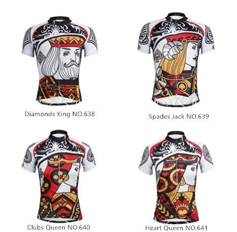 ILPALADINO Poker Face Playing Card Diamonds King Spades Jack Club Queen  Heart Queen --Short-sleeve Men s.Woman s Cycling Suit Jersey -- Apparel  Road Riding ... 3a2b79d4a
