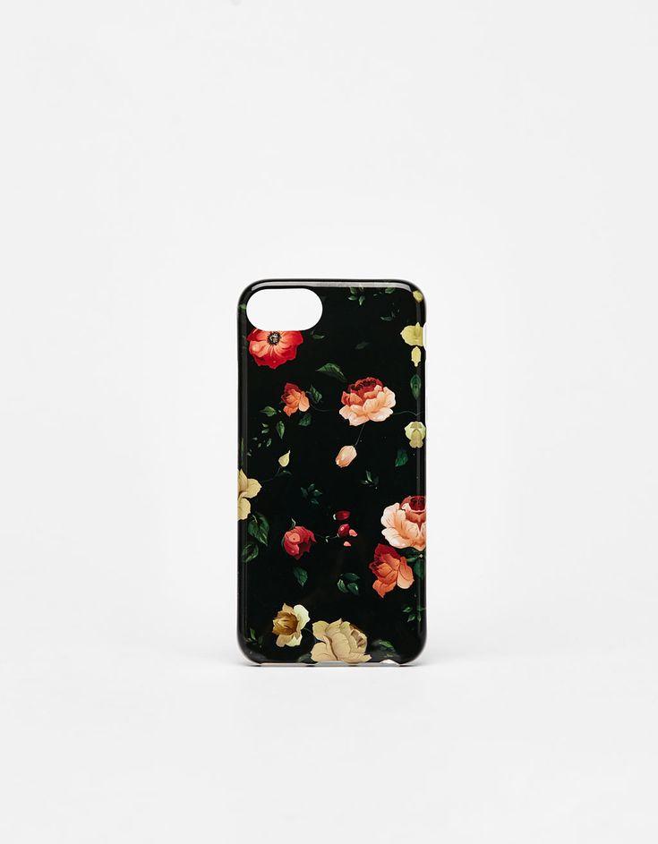 Coque à fleurs iPhone 6/6s/7/8 - Accessoires tablette & téléphone portable - Bershka Belgium
