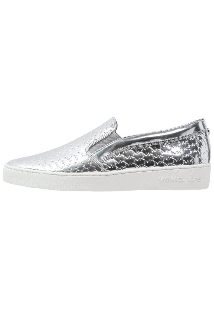 MICHAEL Michael Kors COLBY srebrne slip-on Półbuty wsuwane silver