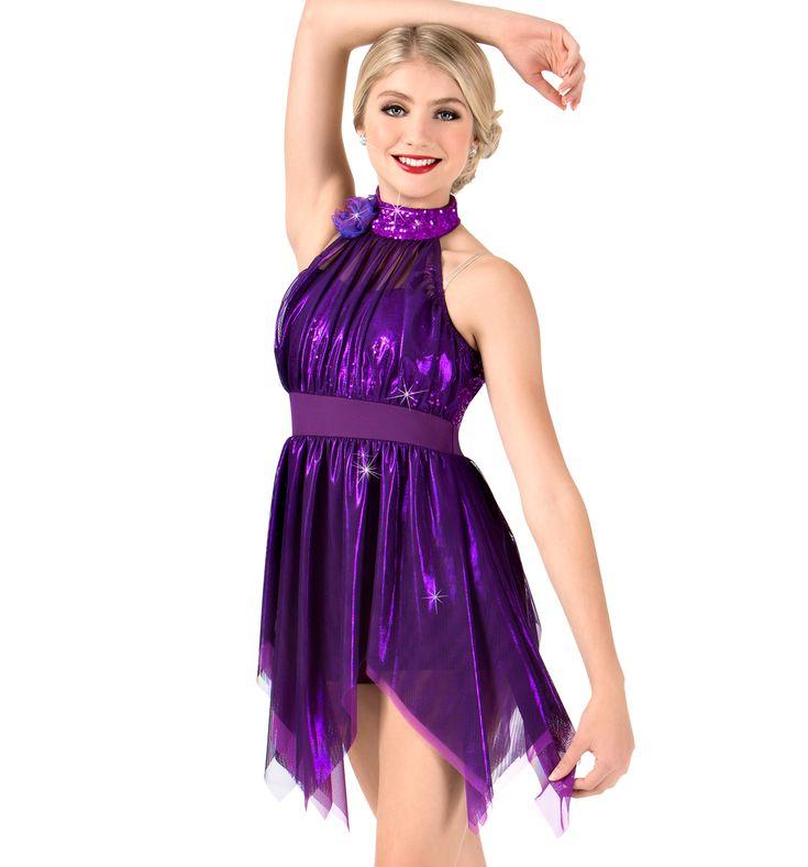 [Worldwide Delivery]  ELISSE Womens Metallic High Neck Handkerchief Performance Dress エリッセ メタリックハイネックハンカチーフパフォーマンスドレス(大人)N7465  【1万円以上送料無料/Worldwide Delivery】Grishko(グリシコ), Wear Moi(ウェアモア)をはじめ、日本未発売の欧米のバレエ用品を一早くご紹介。新体操用の長袖レオタード、大きいサイズ レオタード, メンズ・男の子バレエ用品, 幅細トゥシューズ、ダンス・バトン・チア衣装は当店にお任せ下さい。【輸入バレエ用品通販専門店】LINE:@eyr3713k