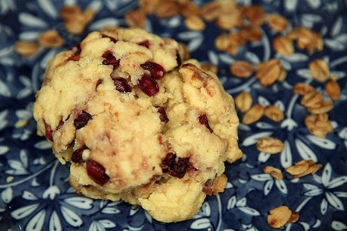 Lemon Pomegranate Scones: Bread, Eggfree Soyfree, Glutenfree Dairyfree, Fresh Fruit