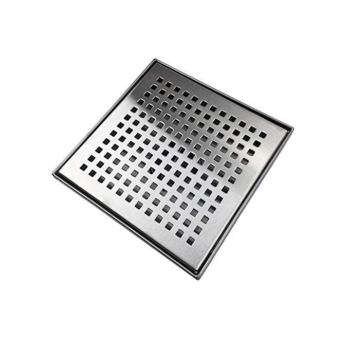 Neodrain Square Shower Drain With Removable Quadrato Pattern Grate
