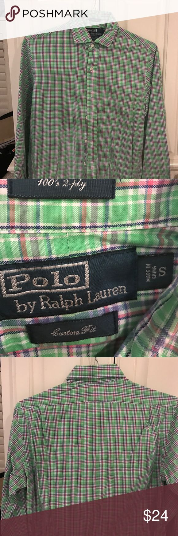 Men's shirt Men's Ralph Lauren polo custom fit shirt Polo by Ralph Lauren Shirts Dress Shirts