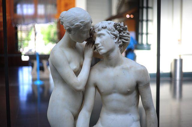 Virginio Arias: Dafnis y Cloe, 1888. Museo de Bellas Artes, Santiago, Chile