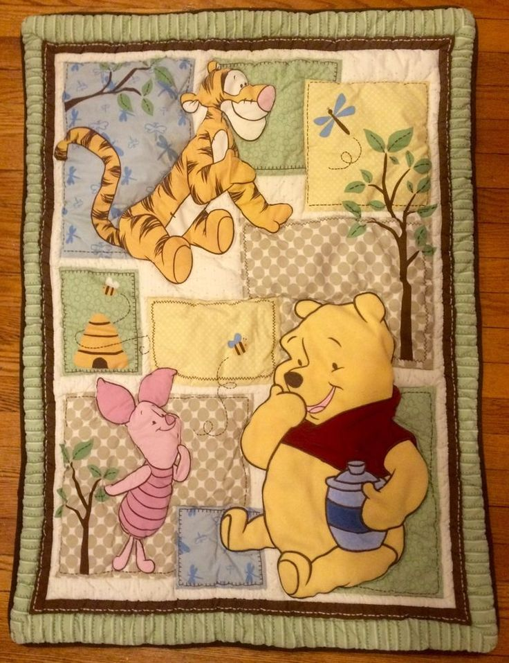 "exc winnie the pooh & friends #disney quilted #baby play mat for boy/ girl 42""x30"" from $14.99"