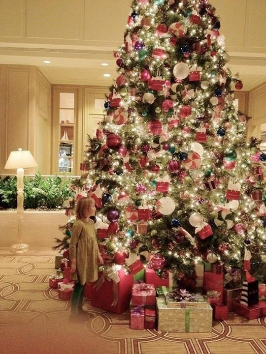 a child at christmas love this photo and the beautiful giant tree someday - Big Christmas Trees
