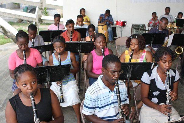 Clarinets at Leogane, Haiti