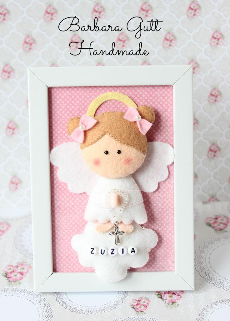 Barbara Handmade...: filcowy aniołek