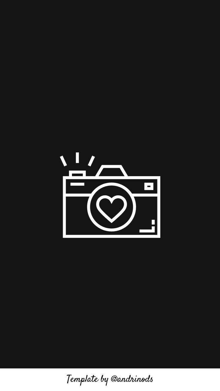 Camera Black And White Instagram Black Theme Instagram Icons Icon Photography