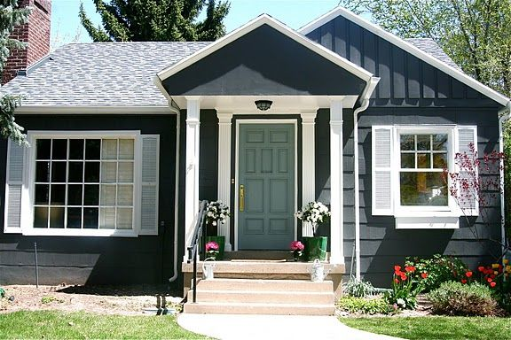 Beautiful House Exteriorpaint House Color Is Martha Stewart Magnetite Door Color Is Benjamin