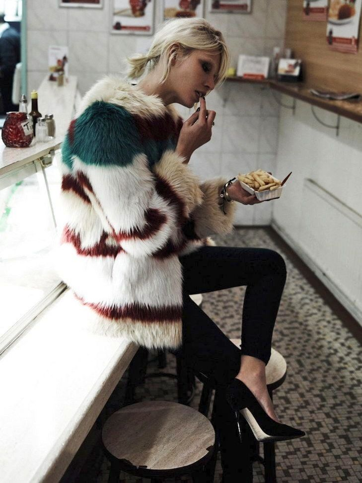 Photo via: Maison Scotch Two things Im currently craving: a colorful fur coat and fries. Okay, I...