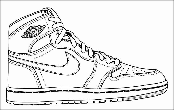 Jordan Shoe Coloring Book Fresh Jordan Drawing Shoes At Getdrawings In 2020 Shoes Drawing Sneakers Illustration Sneakers Drawing