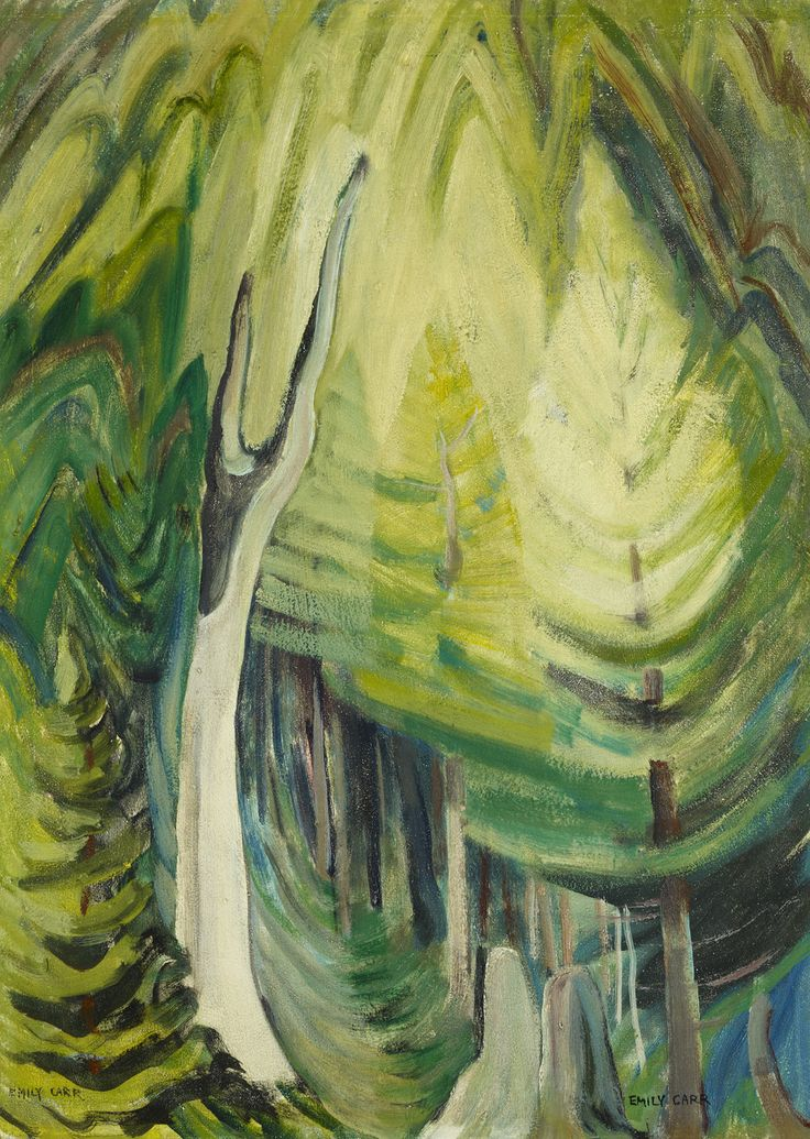 Emily Carr (Canadian, 1871 - 1945): Young pines in light (1935) (via Art Gallery of Ontario)