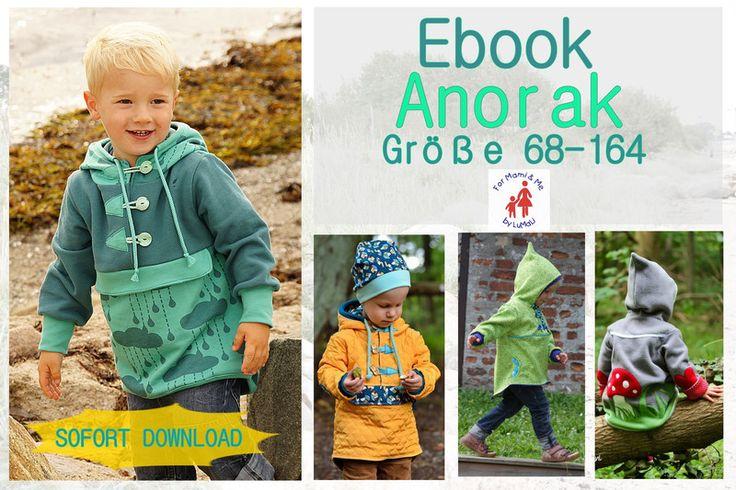Nähanleitungen Kind - Ebook Schlupfjacke Anorak - Jacke, Weste Pullunder - ein Designerstück von For-Mami-and-Me-by-LuMaLi bei DaWanda