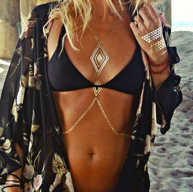 TREND ALERT S 2015: Flash Tattoos Flash Tattoos have been all the rage this summer. It seems like everyone has been wearing them, even big name celebrities like Beyonce and Katie Holmes.