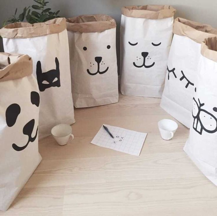 Heavy kraft paper bag children room organizer bag storage bag for toy and baby clothings for shop decoration-in Storage Bags from Home & Garden on Aliexpress.com | Alibaba Group