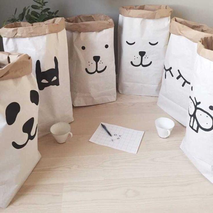INS populaire heavy kraftpapier kinderkamer organizer tas opbergtas voor speelgoed en baby clothings(China (Mainland))