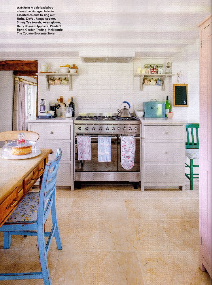 Country Homes and Interiors did a lovely feature on deVOL Kitchens in May 2017. This Kitchen is looking great alongside the statement Smeg range cooker!