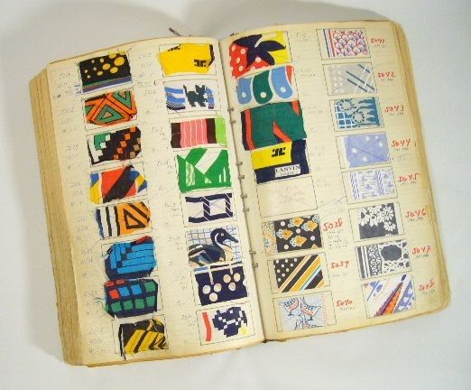 French textile swatch book