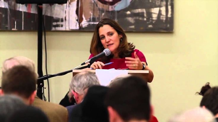 Chrystia Freeland says she joined the Liberal Party of Canada because she believes Justin Trudeau offers a positive tone in #politics | #Cdnpoli