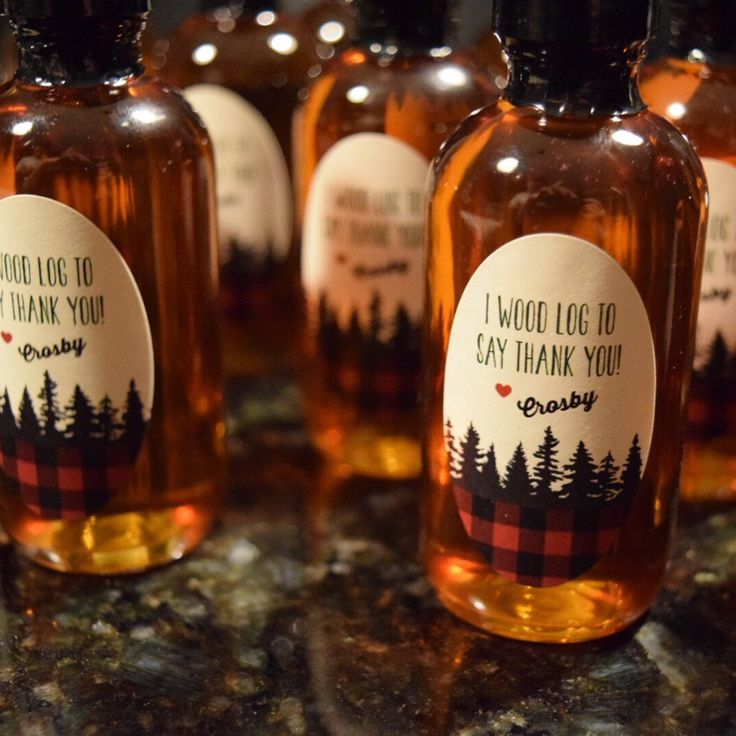 Aren't these little favors fun for a lumberjack birthday party? Props to mom for a sweet little message.