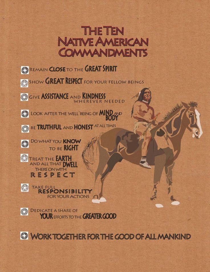 10 Native American Commandments