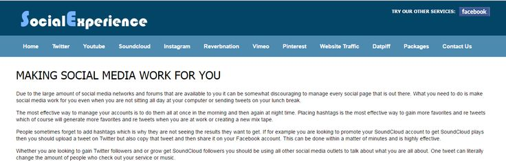 http://socialexperience.org/ Interesting read about making social media work for you #socialmedia