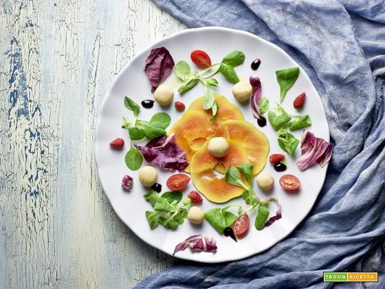 insalata con papaia e fagioli di spagna  #ricette #food #recipes