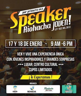 Alcaldía realizará Speaker 'Riohacha Joven'