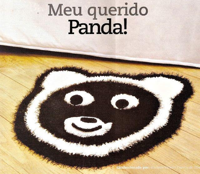 CROCHE COM RECEITA: Tapetes em croche modelos ursos panda