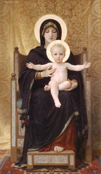 Мадонна с младенцем на троне. Адольф Вильям Бугро