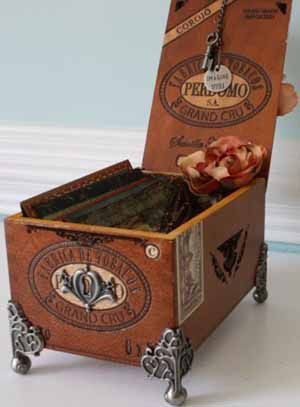 33 best cigar boxes recycled images on pinterest cigar for Cigar boxes for crafts