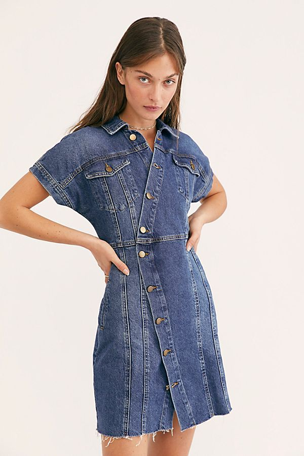 89b6d31223b The City Mini Dress in 2019 | Dresses | Dresses, Short sleeve denim ...