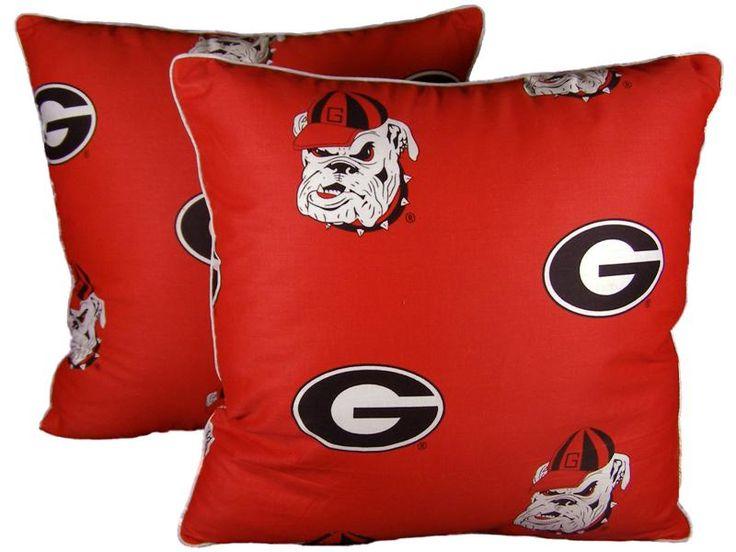 $16 UGA Georgia Bulldogs Decorative Pillows
