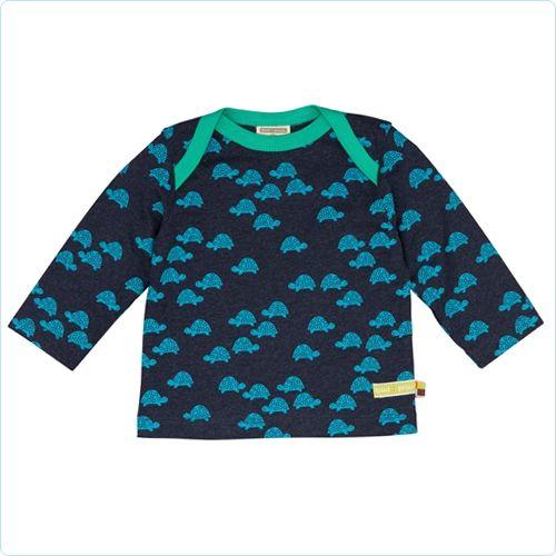 Shirt navy mit Mini-Schildkröten - loud and proud - www.lolakids.de Kindermode