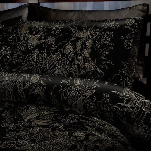 53 best gothic bedroom dream images on pinterest goth for Tattoo bedding queen