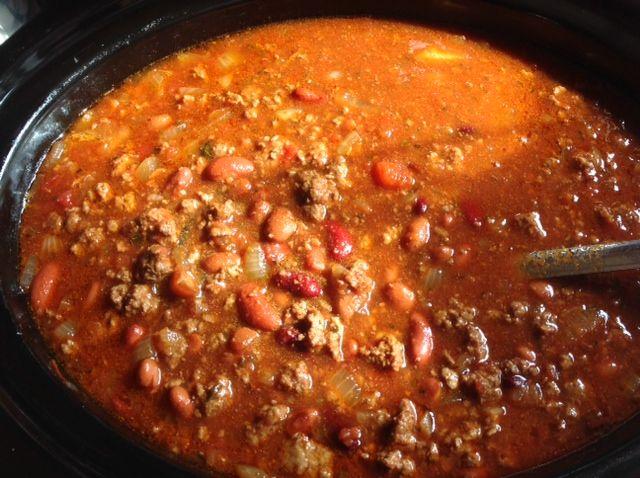 Slow Cooker Chili Con Carne Recipe  | whatscookingamerica.net  #chili #slowcooker #stew