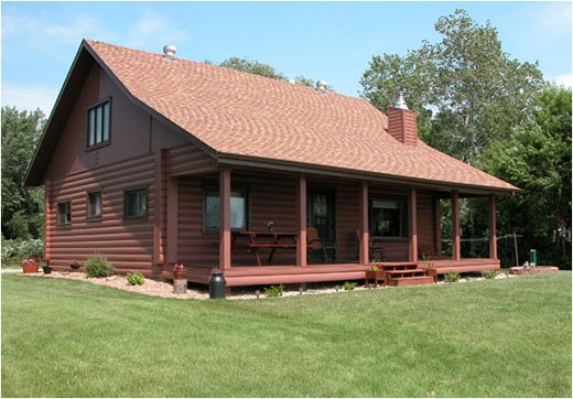 United States Seamless® -Northwoods Collection™ Log Cabin Seamless Steel Siding - Sequoia