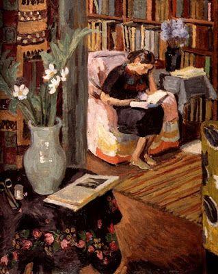 Bell, Vanessa (1879-1961) - Interior with artist's daughter, 1935-1936