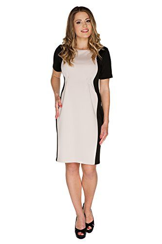My Tummy Womens Maternity Nursing Dress Smart Adele Blackbeige XL XLarge *** More info could be found at the image url.Note:It is affiliate link to Amazon.