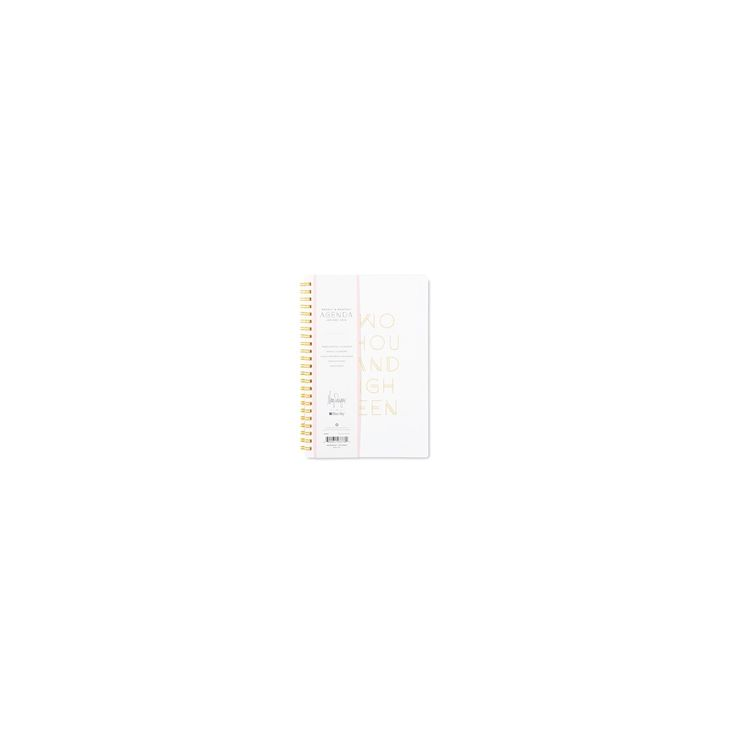 2018 May Designs Planner Weekly Monthly Medium Hardcover - White