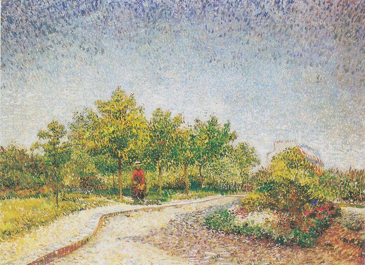 Van Gogh - Weg im Park Voyer d'Argenson in Asniéres, 1887