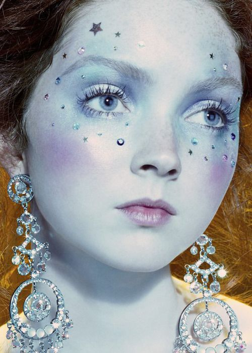 "Face charms. Lily Cole in ""So Poetic"" for Vogue Italia, August 2005—shot by Miles Aldridge."