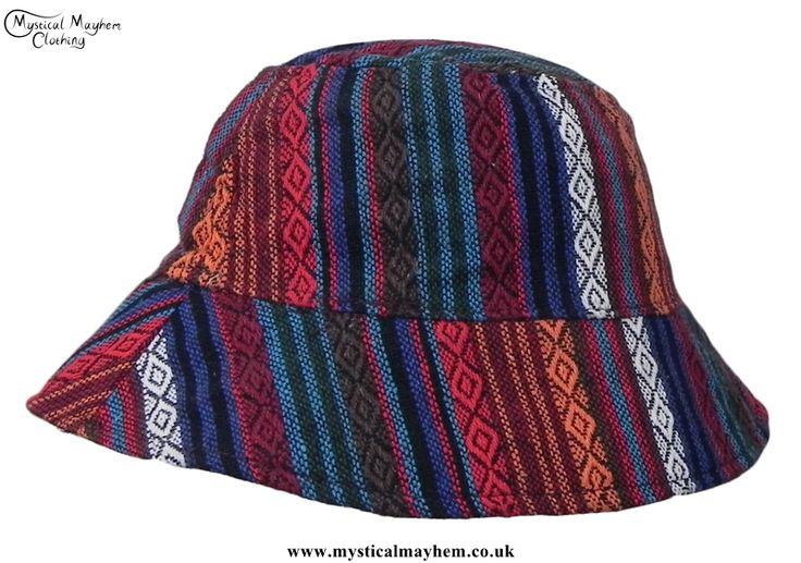 Thai Gheri Cotton Hippy Festival Floppy Hat Multicoloured
