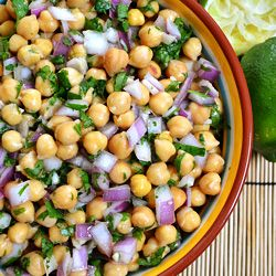 ... of warm weather and sunshine in a salad - Cumin & Lime Chickpeas