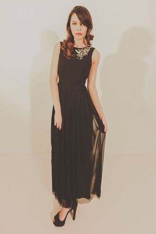 Alluvial Dream Dress - Black With Gold Embroidery – Blackeyed Susan