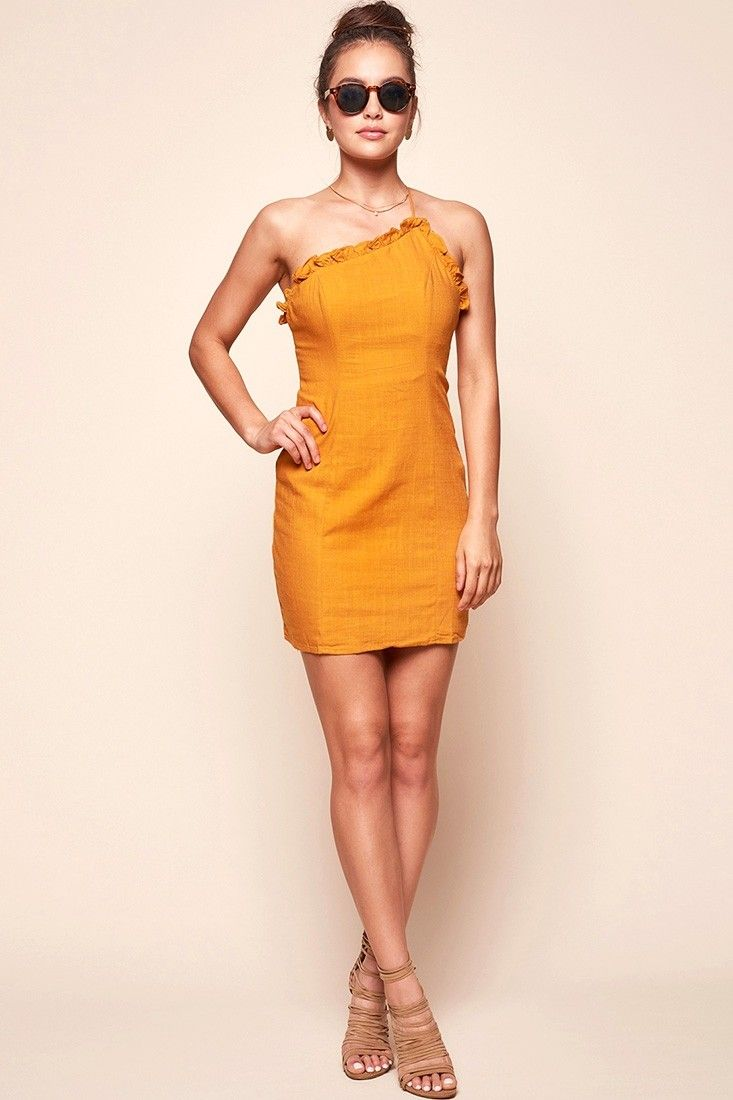 ae465786ce109 Knox Strapless Summer Day Party Dress Mustard | occasions | Dresses ...