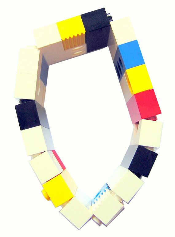 Geek chic Primary Colors bracelet  made from by MademoiselleAlma #MademoiselleAlma #LEGO #ETSY