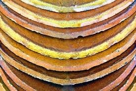 old glazed pantiles in a stack
