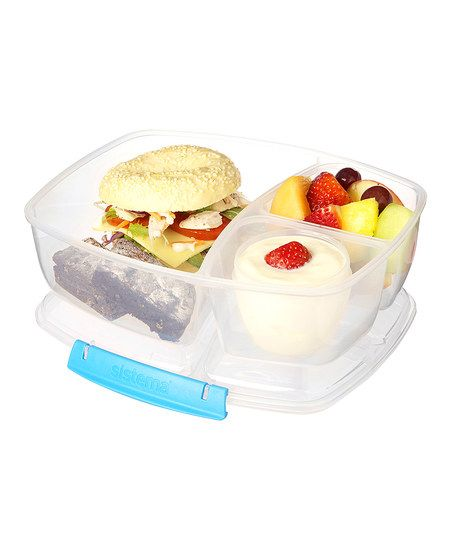 Pack a delicious homemade lunch to take on the go with this sturdy split container. Three roomy compartments keep contents separate, and it's microwave-, dishwasher- and freezer-safe for added convenience.